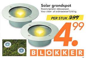 Solar tuinverlichting blokker